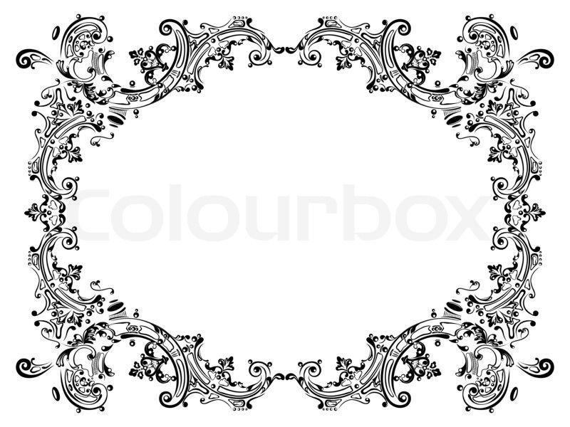 Decorative Text Box 4440415Designframewithblackswirlingdecorativeelements