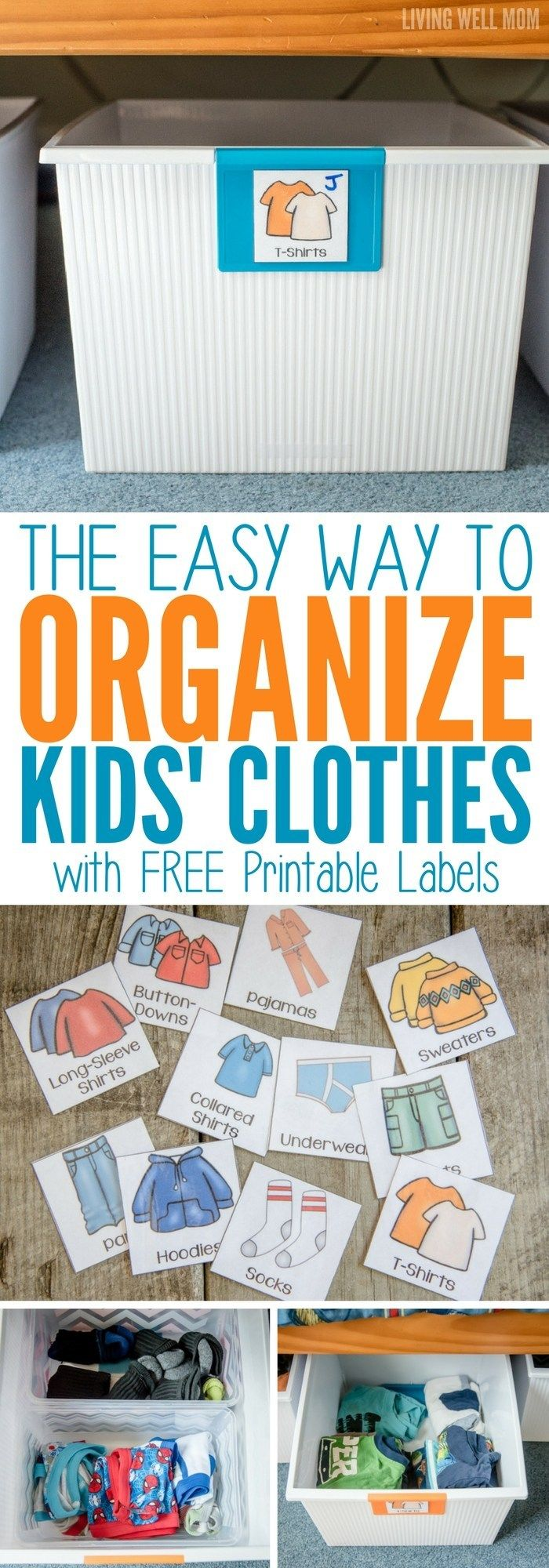 The Easy Way to Organize Kids' Clothes
