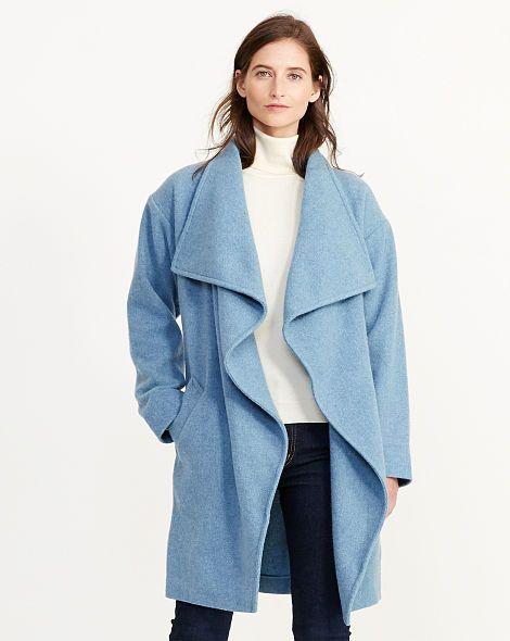 Draped Merino Wool Jacket - Lauren Wool - RalphLauren.com