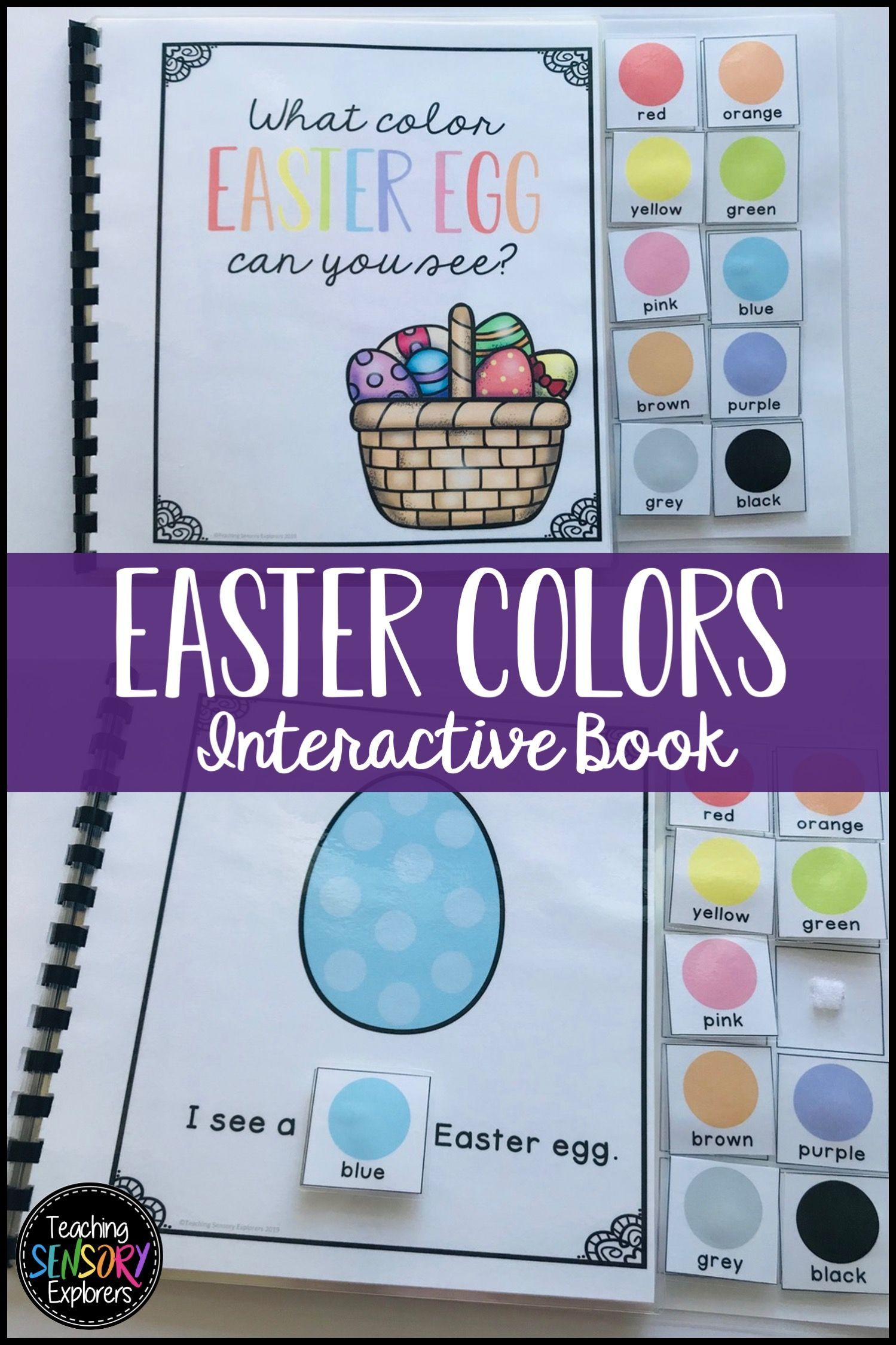 Easter Egg Colors Interactive Book In