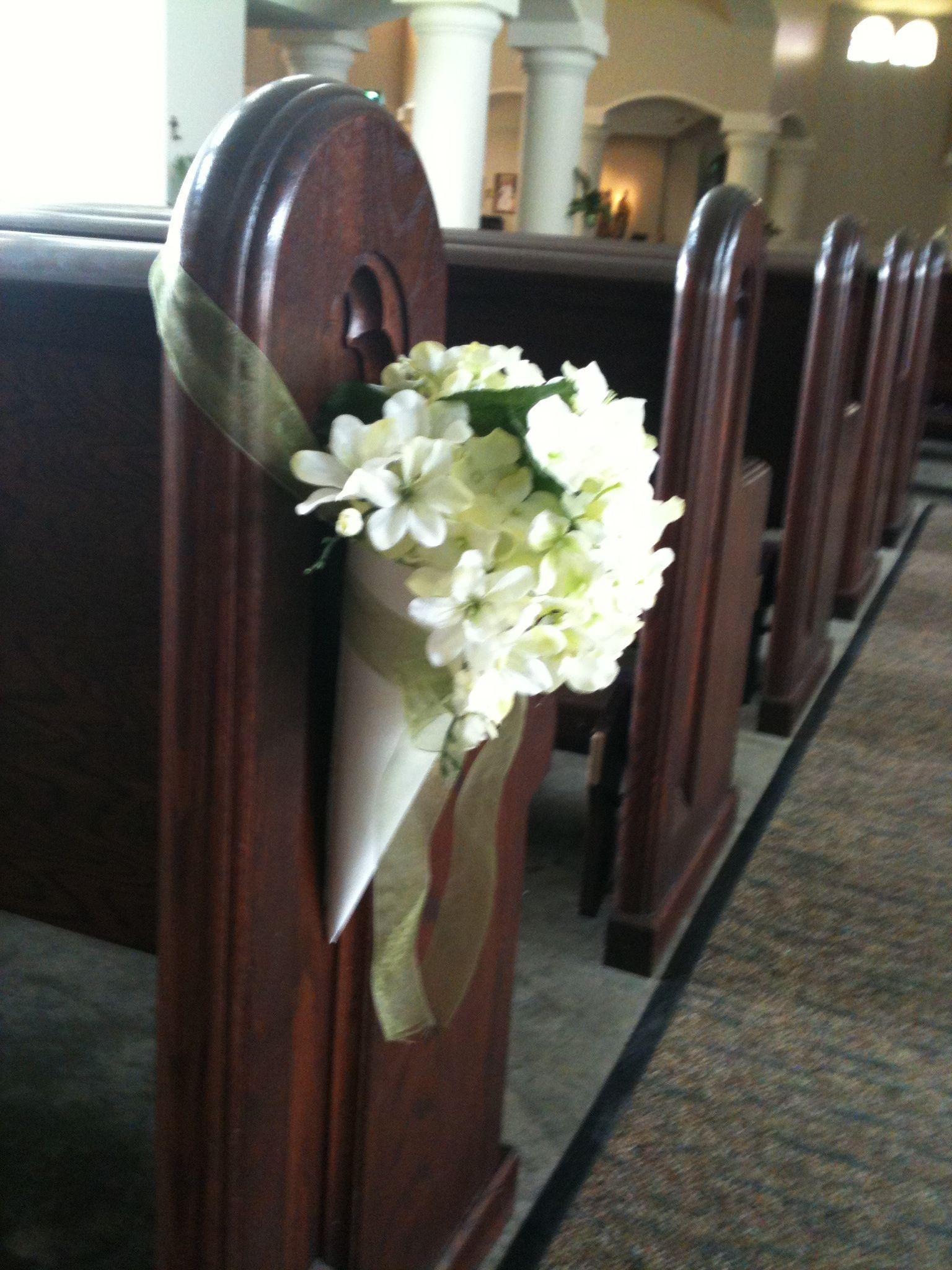 Church Pews Flower Arrangement Wedding Church Aisle Church