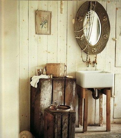 Ideas para un baño rústico Baños rústicos, Rústico y Rusticas