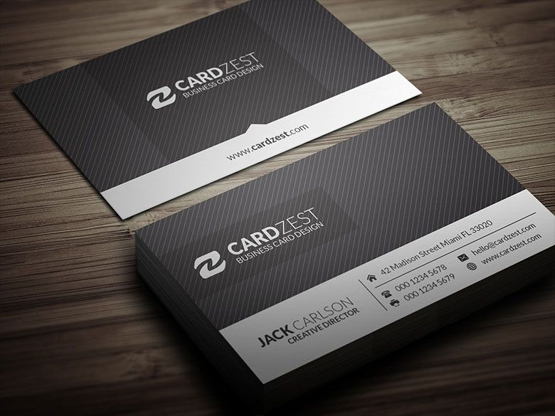 Minimal Sleek Monochrome Business Card Template Free Business Card Templates Business Card Template Business Cards