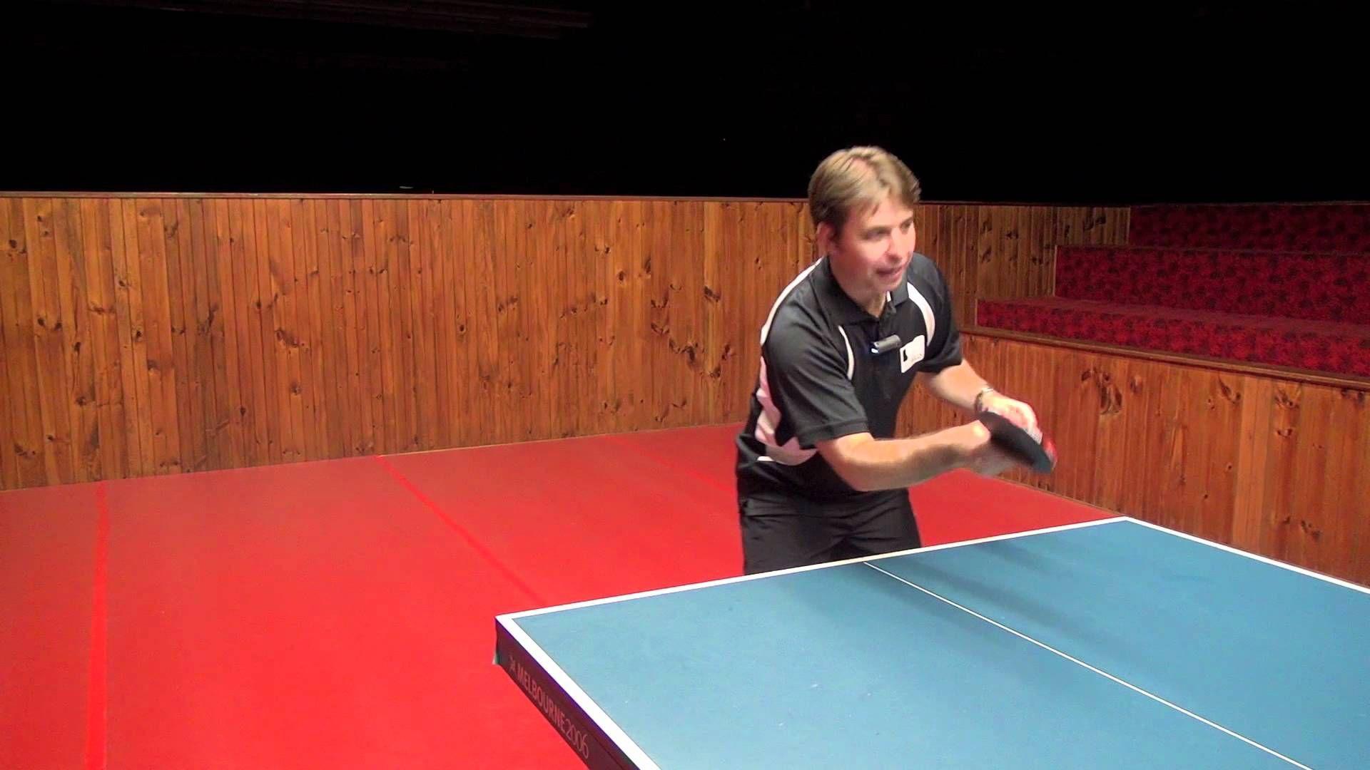 Forehand Push In Table Tennis Table Tennis Tennis Tennis Tips