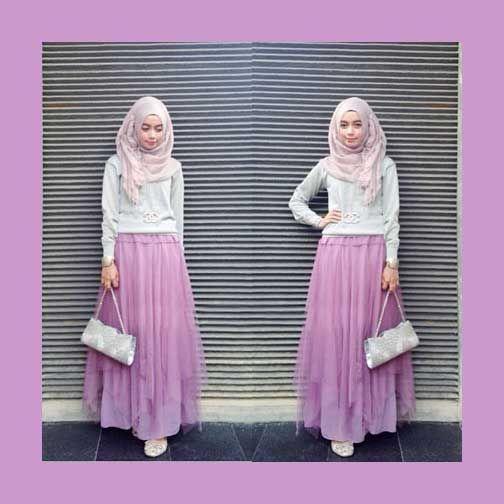 Padu Padan Rok Warna Pink Penelusuran Google Baju Muslim Casual