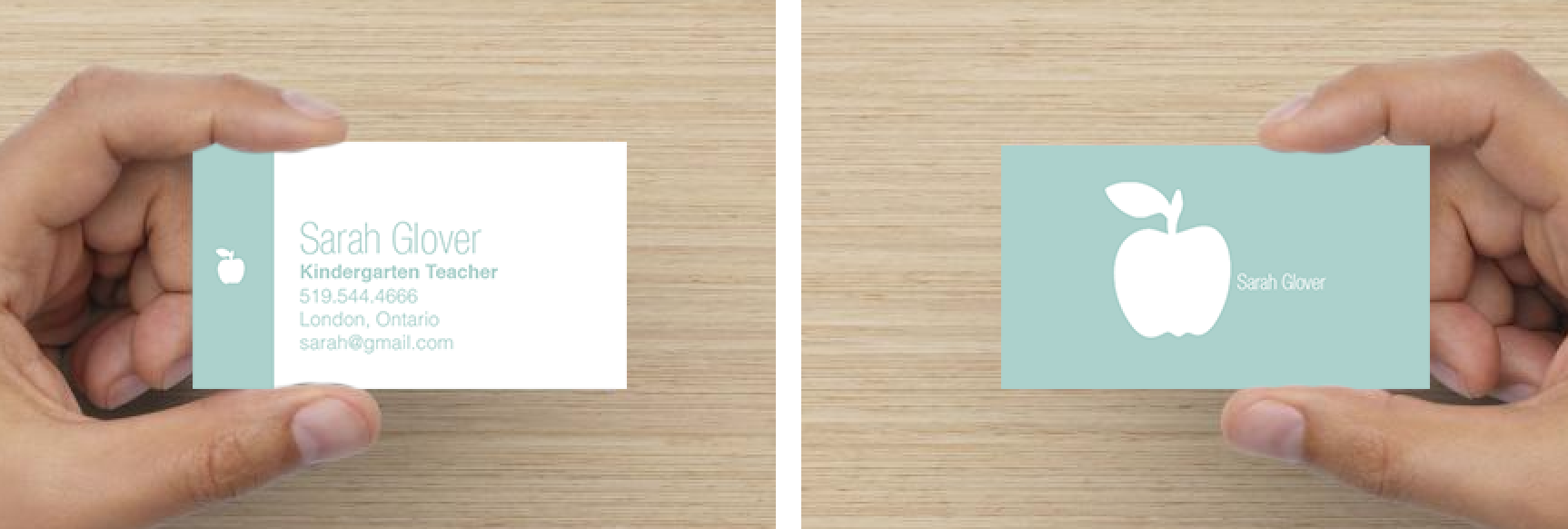 Teacher Business Card - Modern Double Sided   Work   Pinterest ...