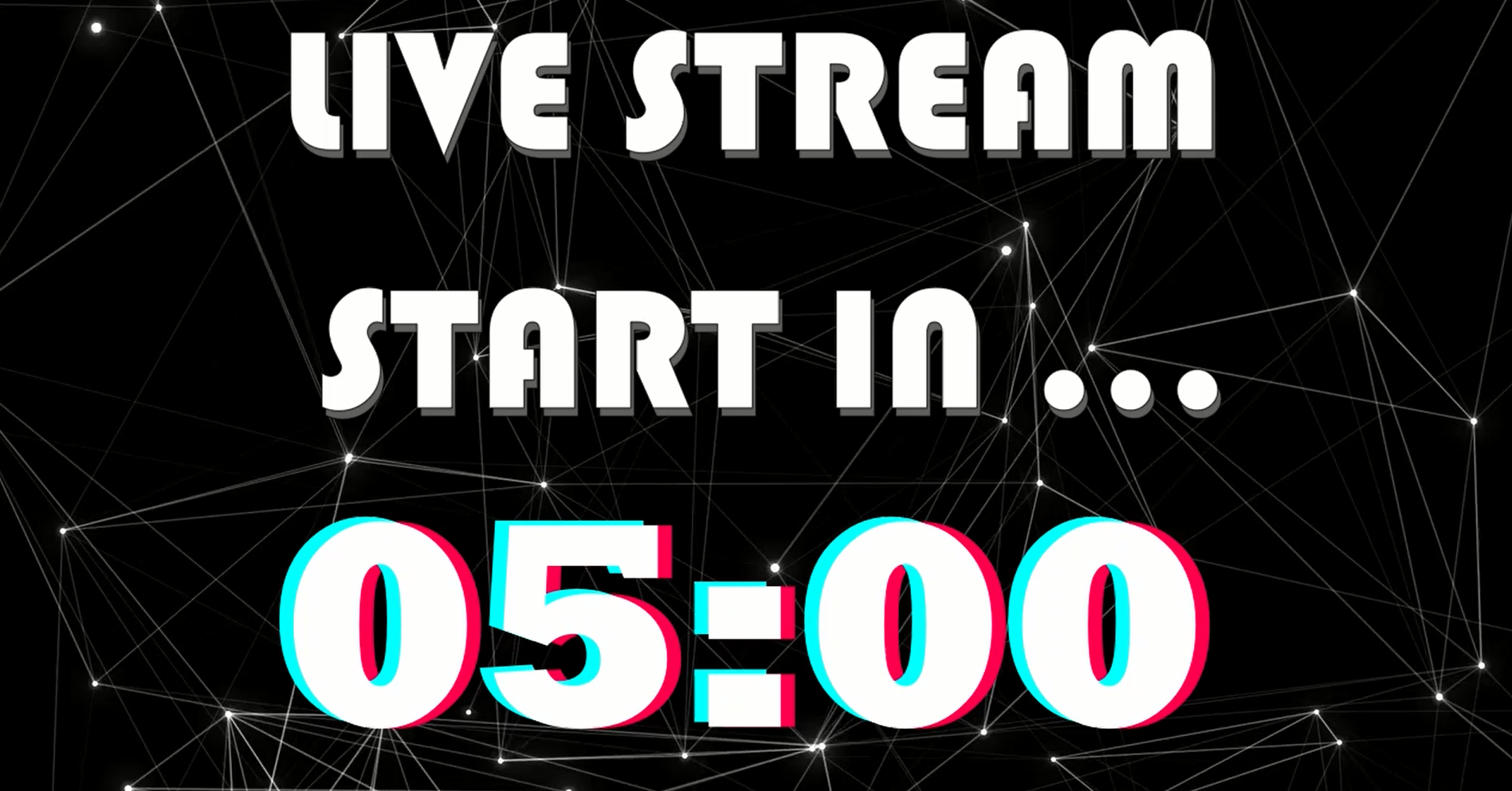 Black Tik Tok Live Stream Start Soon Free Template With Animated Background Animation Background Streaming Intro