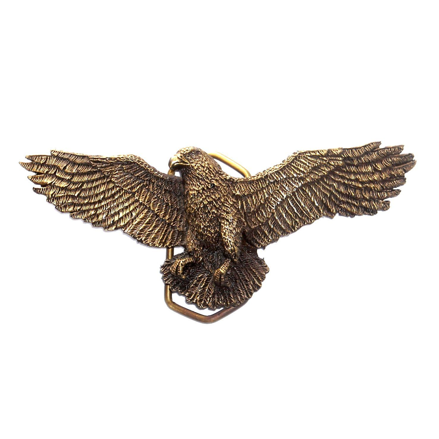Small buckles for crafts - American Flying Eagle Vintage 3d Indiana Metal Craft Solid Brass Belt Buckle
