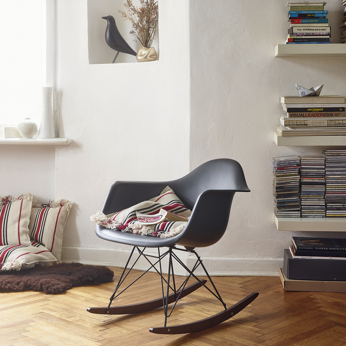 Vitra Eames Rar Rocking Chair Granite Grey Chrome Maple Eames Rocking Chair Eames Plastic Chair Rocking Chair