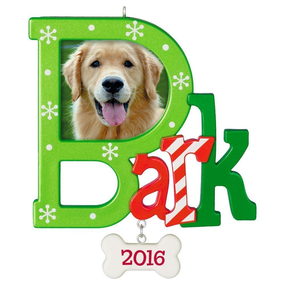 Details about Bark 2016 Hallmark Ornament Dog Puppy Bone