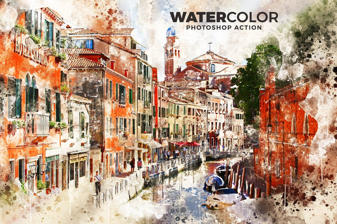 Watercolor Action Is A Photoshop Action That You Can Use It To
