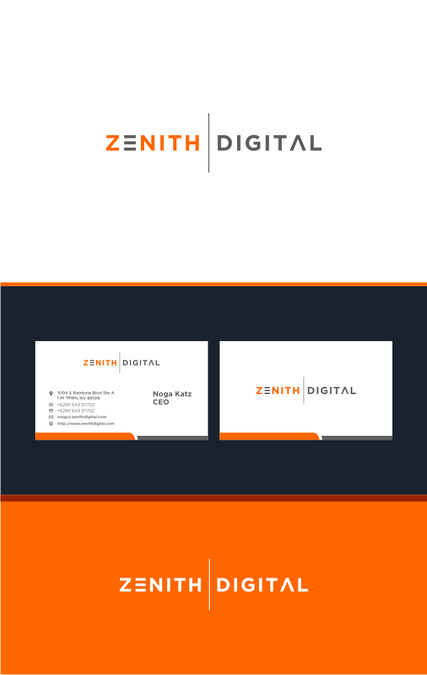 Zenith Digital By Madara Logo Design Card Design