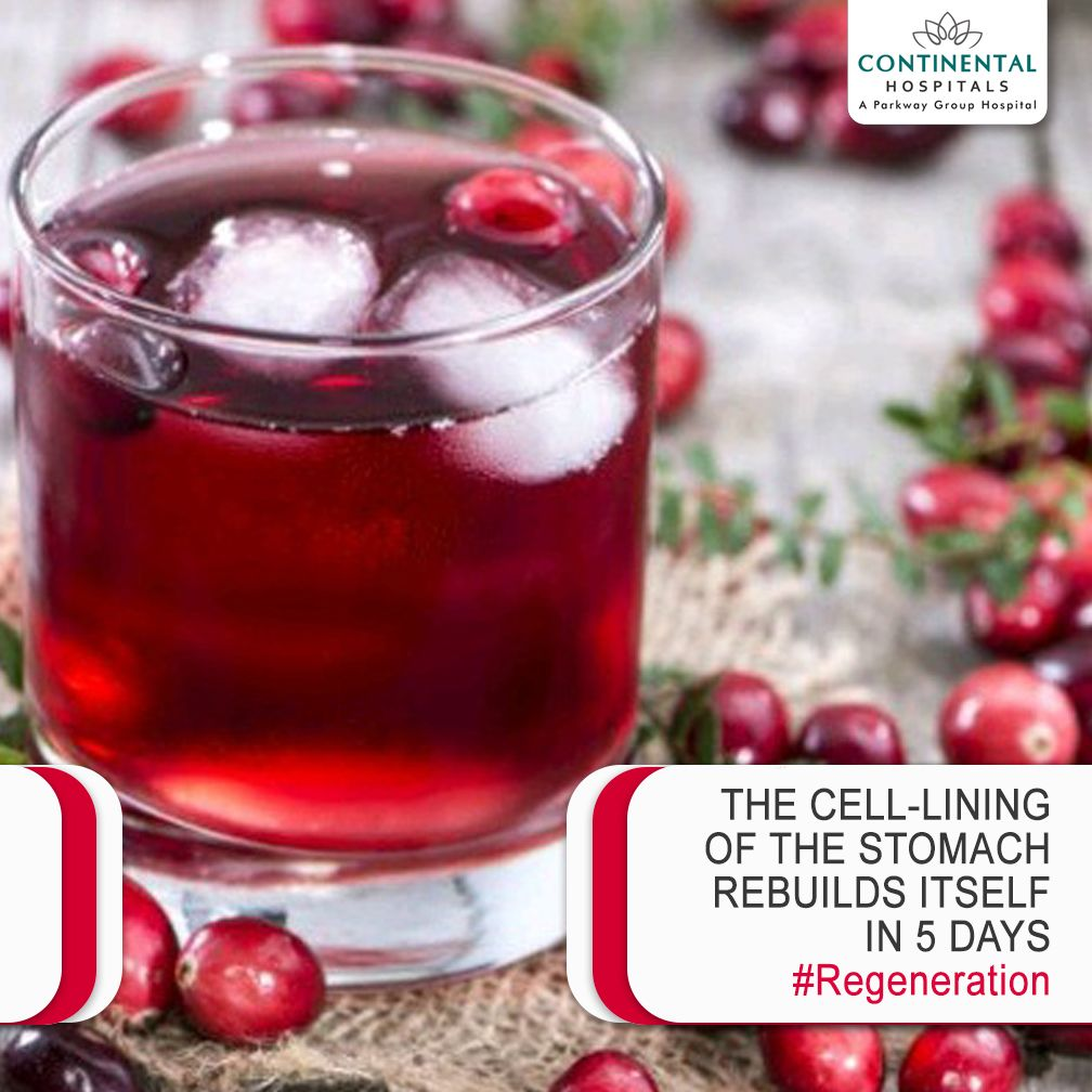 The Stomach Undergoes A Lot Of Stress In Terms Of Breaking Down Of Food On A Daily Basis As A Result The Epithelial C Berry Juice Cranberry Juice Health Tips