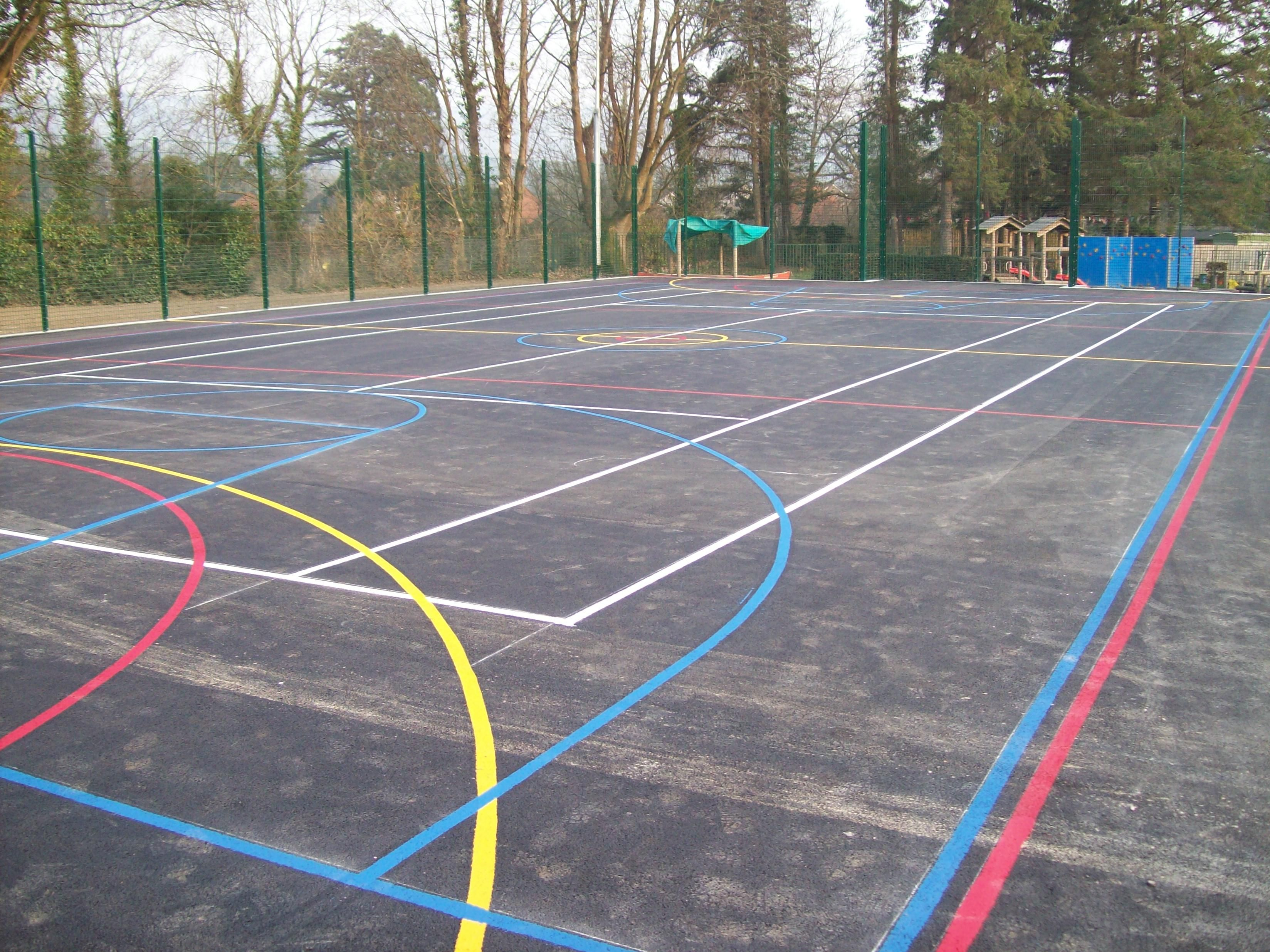 Pin by R A Markings Ltd on Sports Courts Sport court
