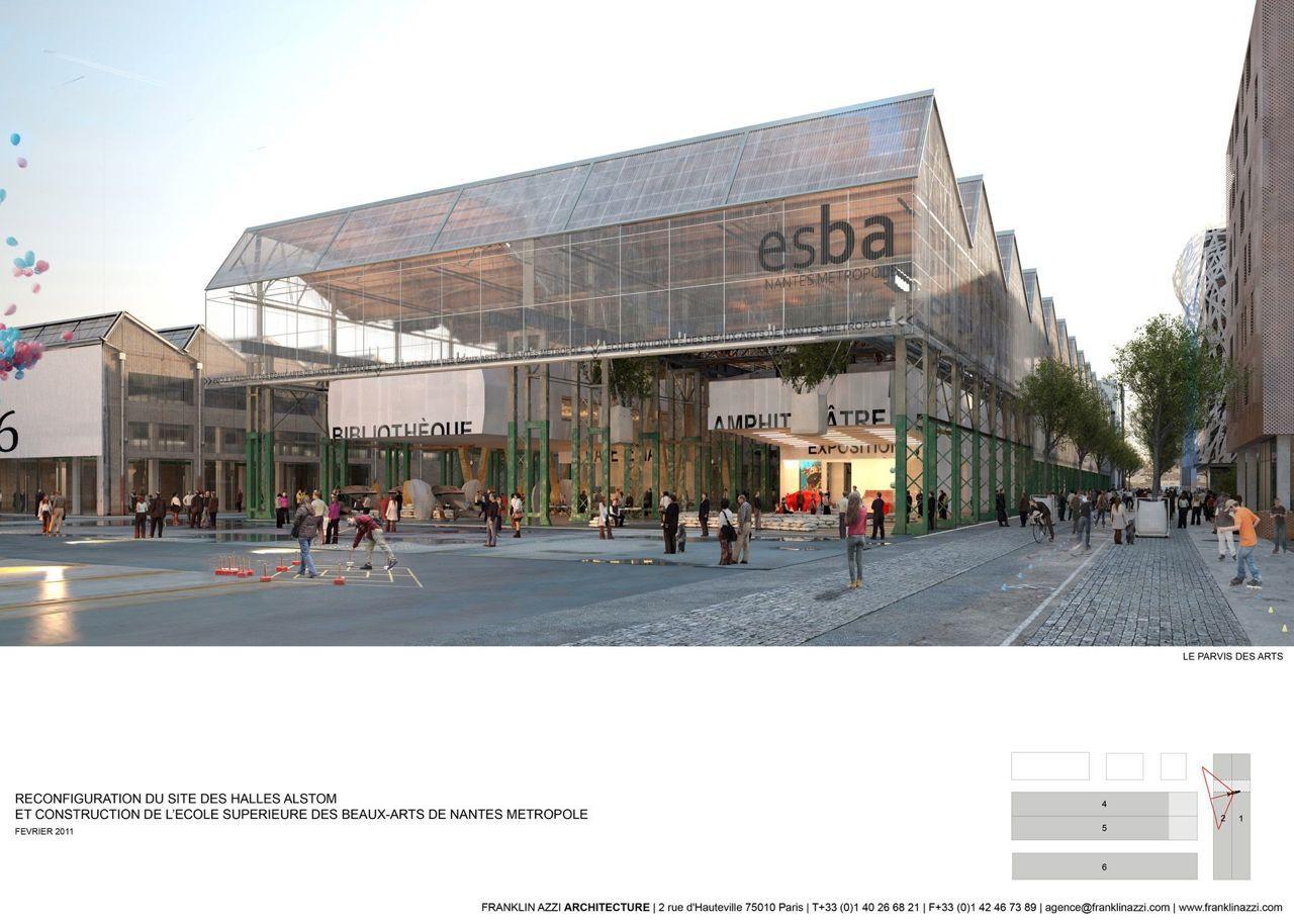 Agence Franklin Nantes nantes higher school of fine arts - franklin azzi architecture