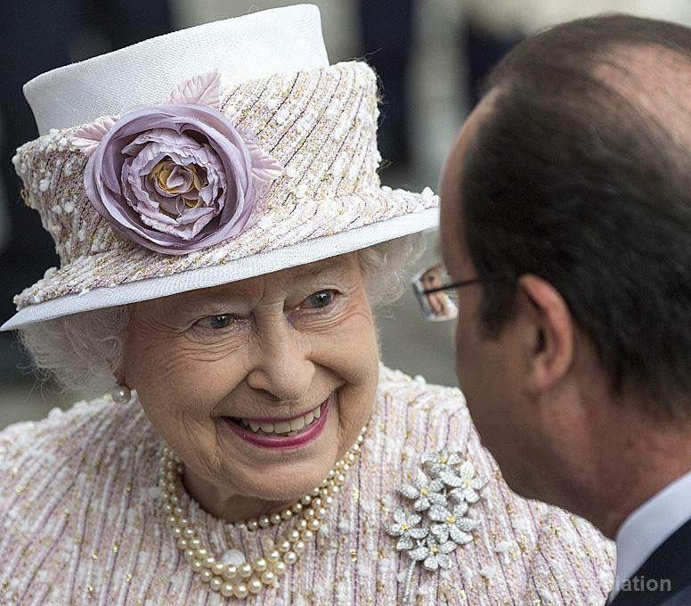 Her Highness Is Talking In This Picture Her Majesty The Queen Queen Hat Queen Elizabeth