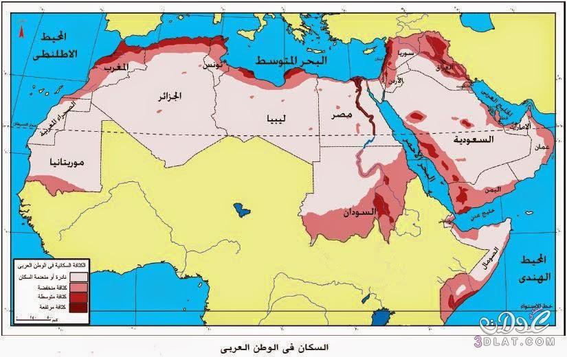 خريطة الوطن العربي الجديدة ملونة وصماء 3dlat Net 16 17 E24b Arabic Kids Map World Map