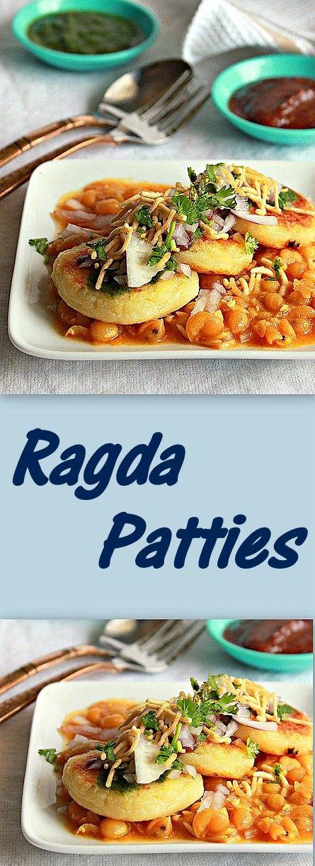 Ragda Patties, Aloo Tikki chaat, Potato Patties served with