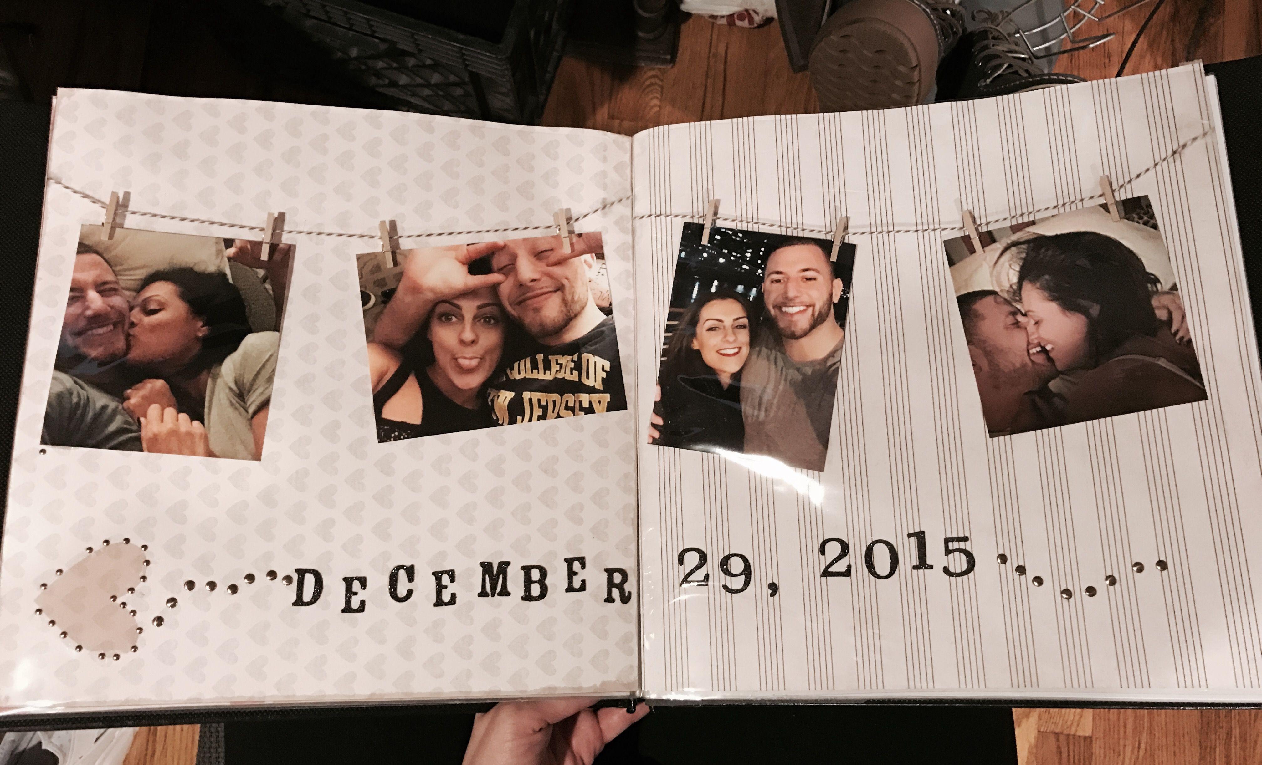 Boyfriend scrap book one year scrap book boyfriend diy gifts