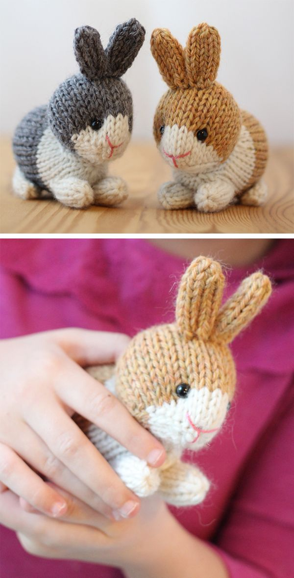 Dutch Rabbits Knitting pattern by Rachel Borello Carroll