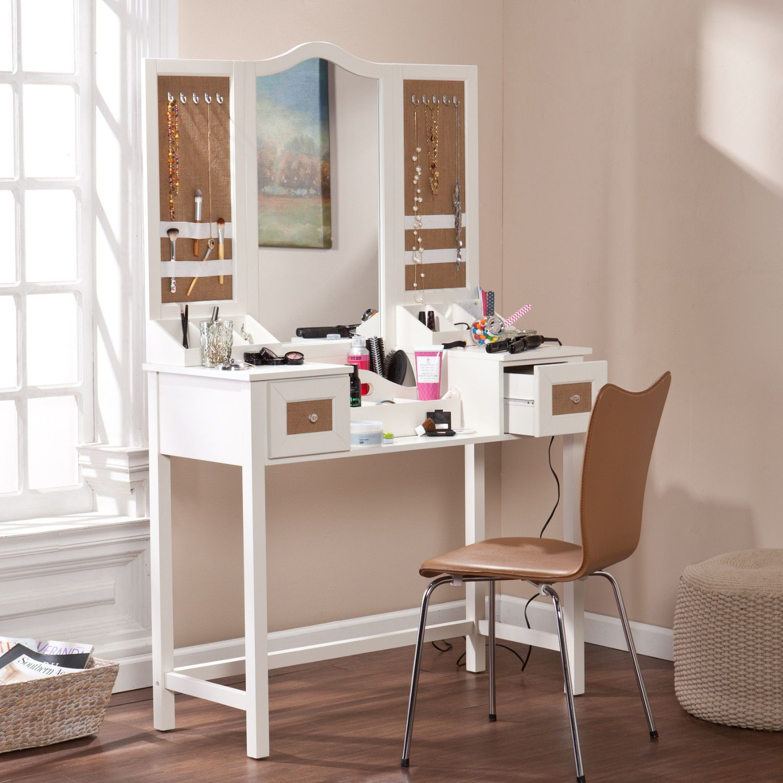 how to build a bedroom vanity | bedrooms, jewelry storage and chairs