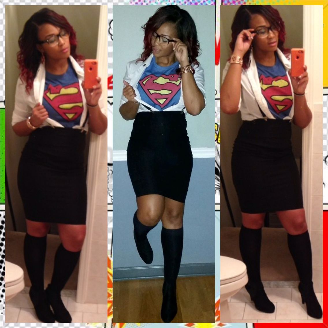 My Superwoman DIY costume inspired by Pinterest!  sc 1 st  Pinterest : costume ideas on pinterest  - Germanpascual.Com