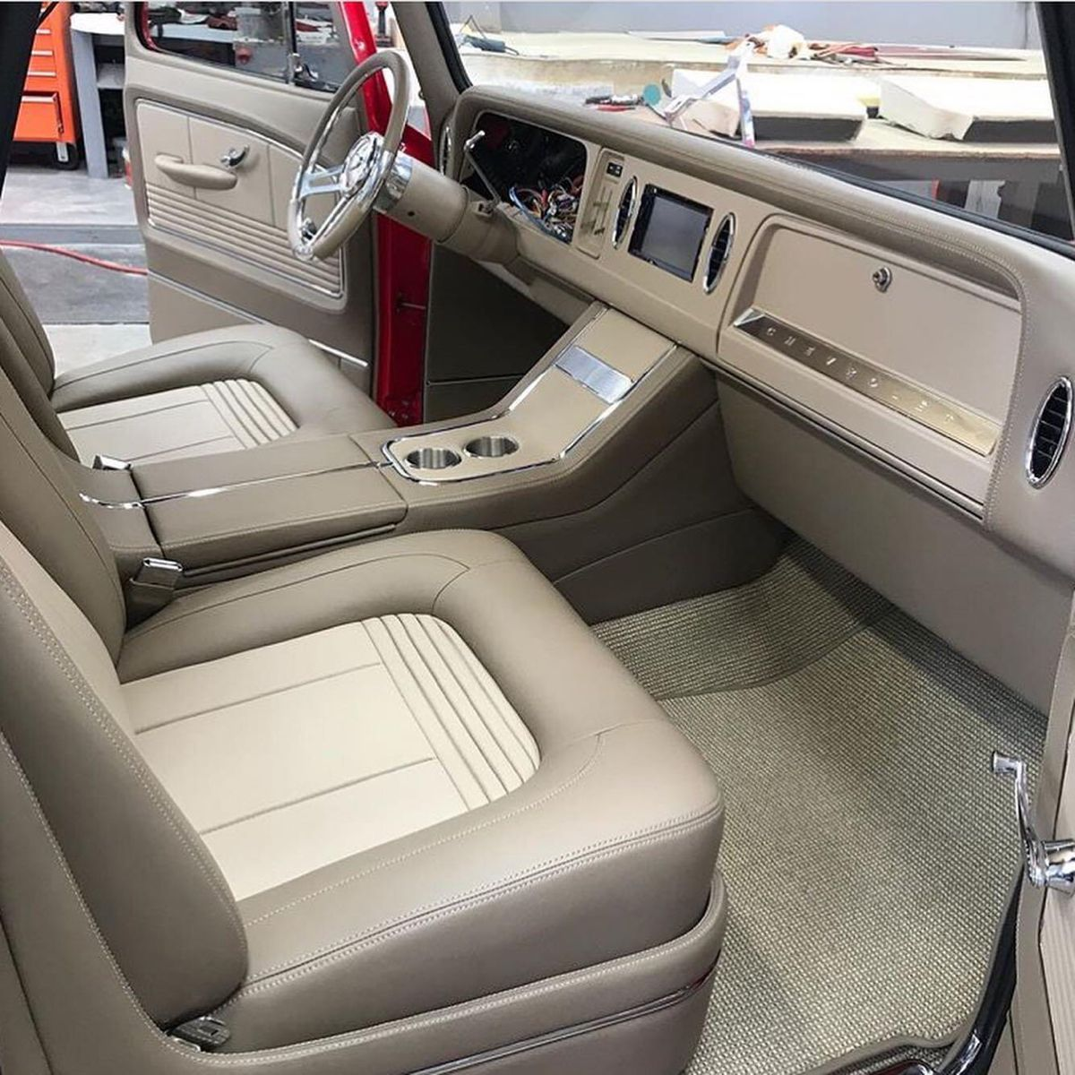 Pin By Reagan On Car Interiors In 2020 Truck Interior Car Interior Upholstery C10 Chevy Truck