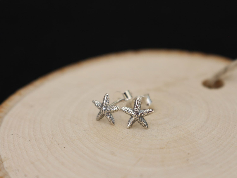 Starfish Earrings, Starfish Studs, Dainty Earrings, Sterling Silver, Delicate Earrings, Wedding Jewelry, Starfish, Gift Idea, BeadXS by beadxs on Etsy https://www.etsy.com/listing/267142435/starfish-earrings-starfish-studs-dainty