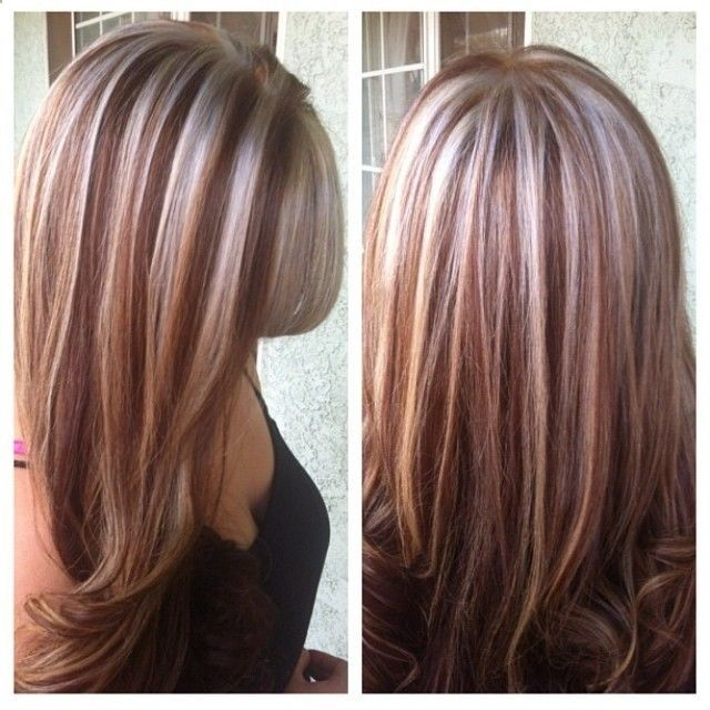 Platinum Red Highlights Hair Color Auburn Hair Highlights