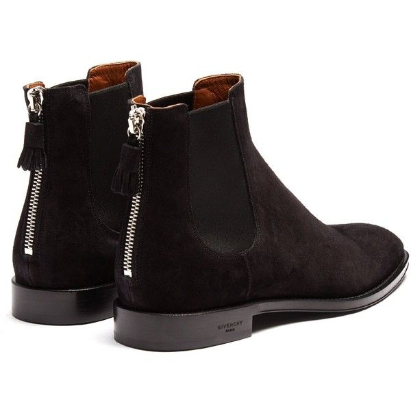 3e8b4fcceac59 Givenchy Suede chelsea boots ( 895) ❤ liked on Polyvore featuring shoes