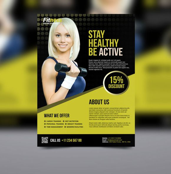Fitness Flyer On Creativework  Flyer Templates  Flyers
