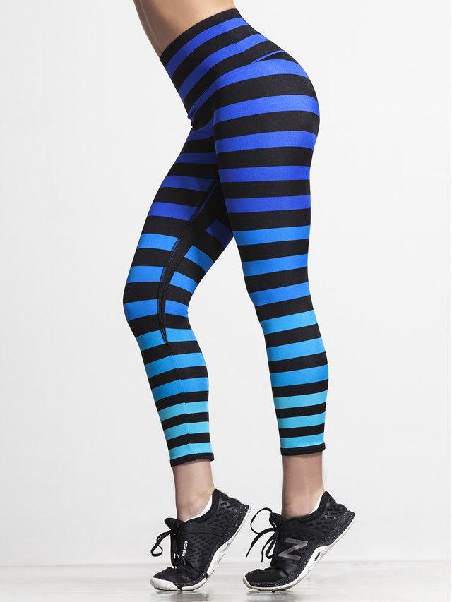 Alexis Capri Legging In Alexis Stripe Stripe Print Bold Prints