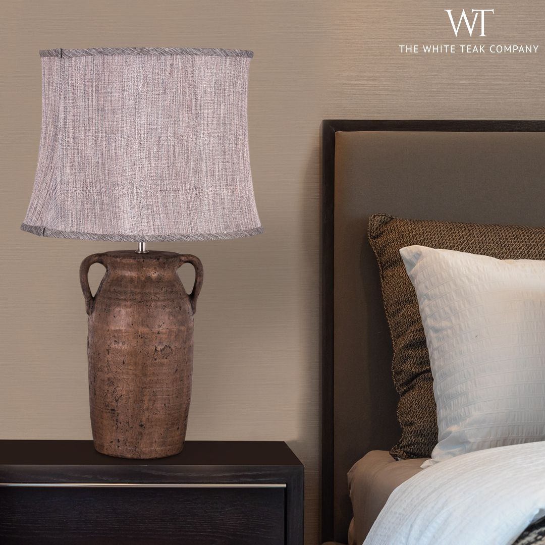Bring home this elegant table lamp, the 'ANCIENT SECRETS ' to light up your space! Shop online at www.whiteteak.com. #HomeLighting #WhiteTeak #TableLamp #HomeLove #InteriorDesign #InteriorDecor #HomeDecor. Call : 1800-1030054
