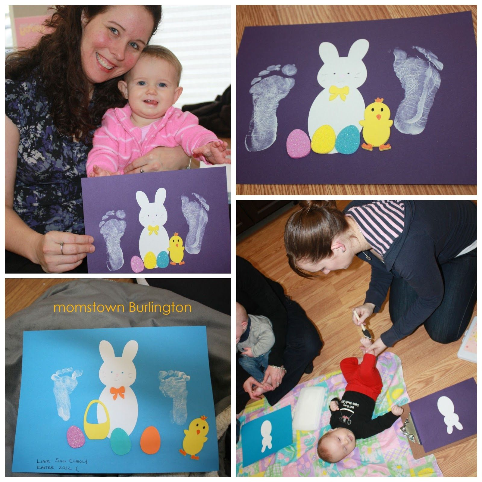 Footprint And Handprint Easter Crafts Easy Craft For Baby