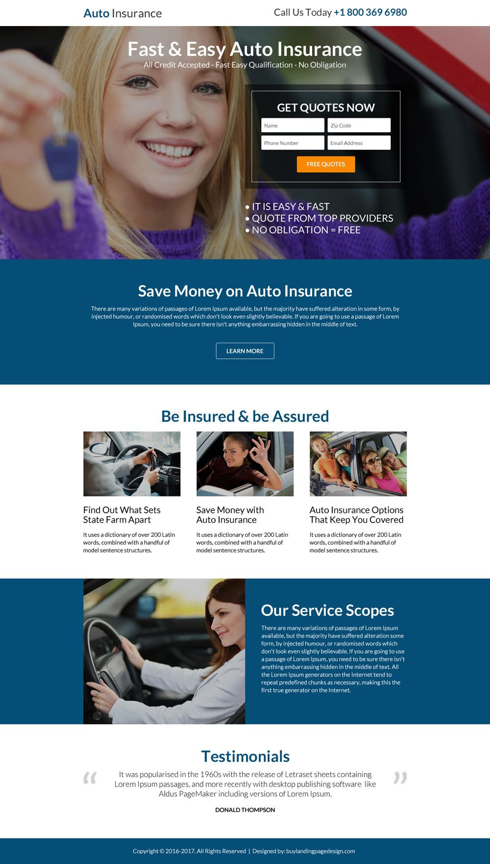 Top 7 Auto Insurance Landing Pages That Capture Quality Leads