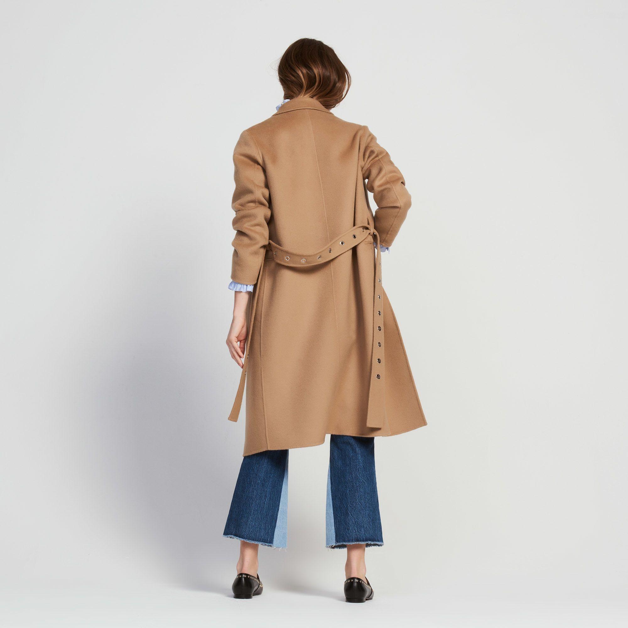 6a5bdd385f73c Long Coat With Eyelet Belts - Coats - Sandro-paris.com   coats ...