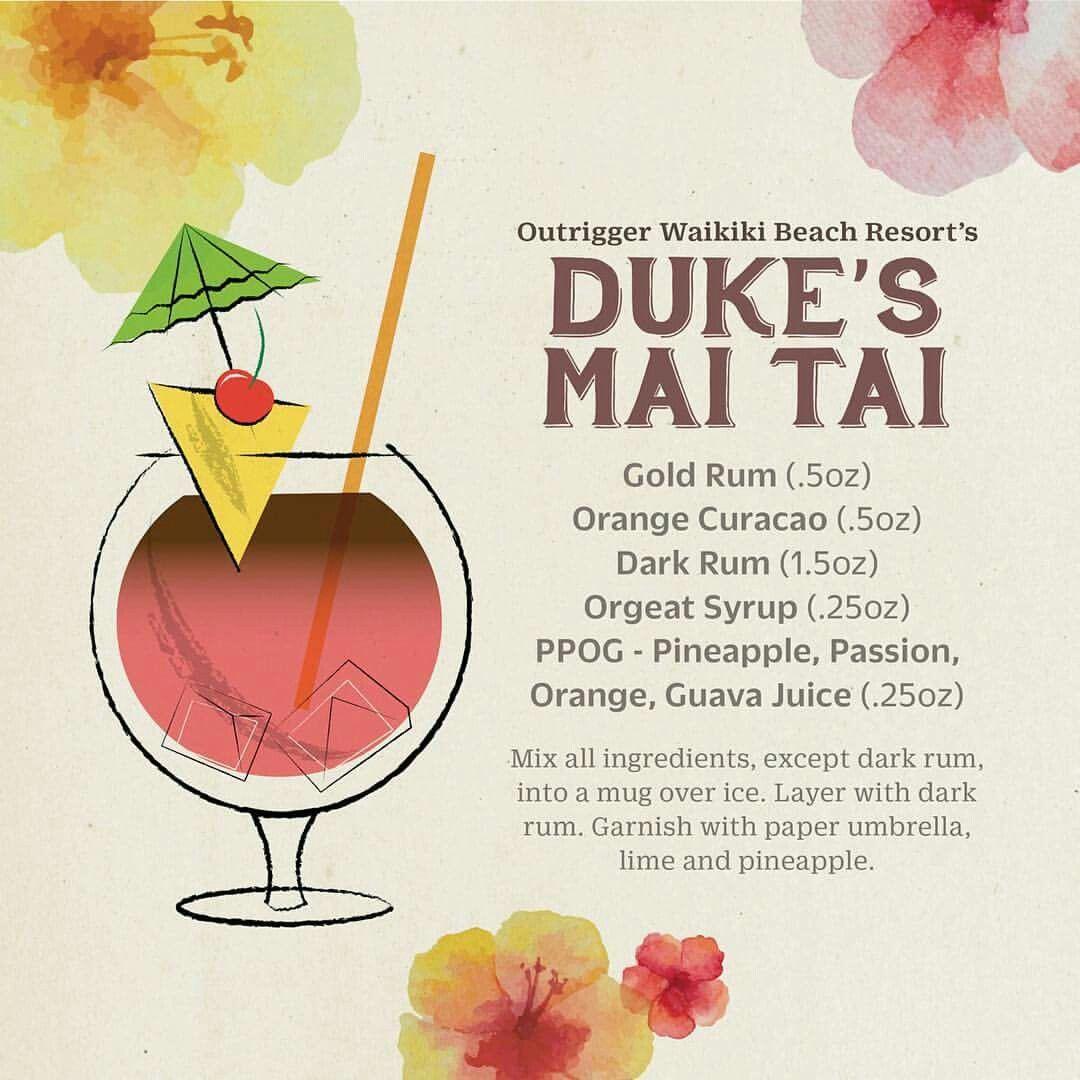 Mai Tai recipe from Duke's on Waikiki Beach