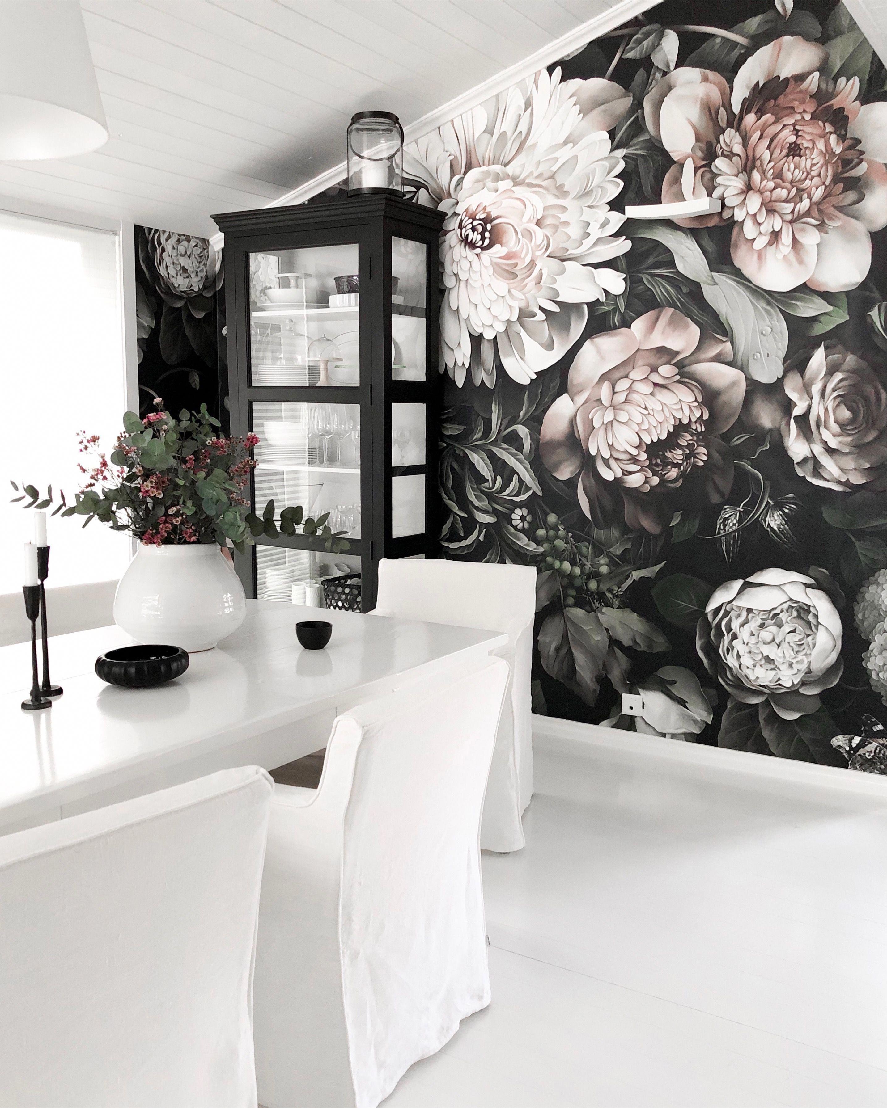 Dark Floral Wallpaper Ellie Cashman Design Wallpaper Floral
