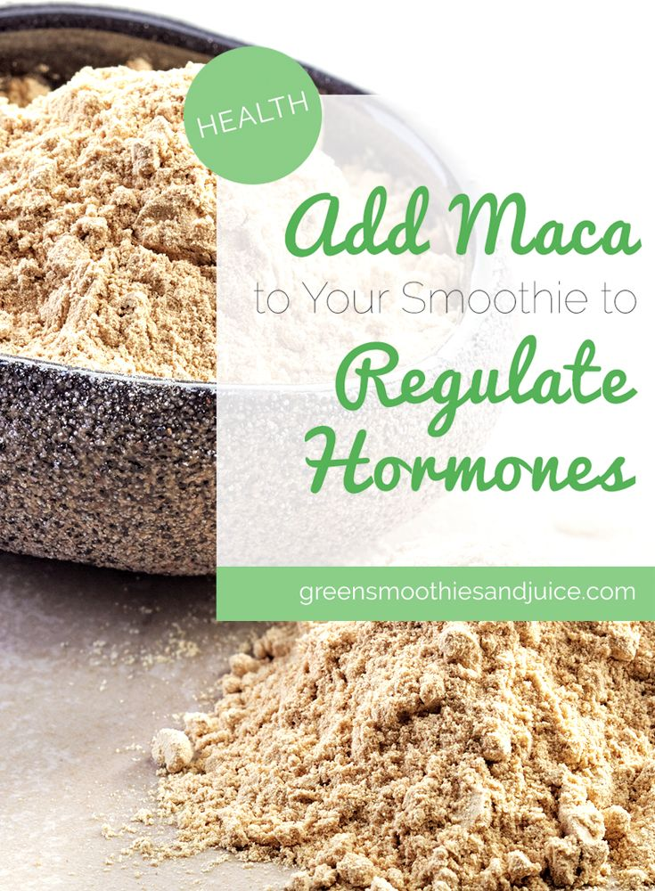 """Do your hormones seem """"off""""? Adding maca powder to your morning smoothie can help!  #greensmoothies #healthtips #womenshealth"""