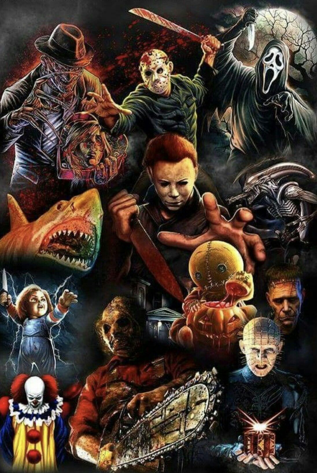 An classic horror icons legends edit by posted by jeanne