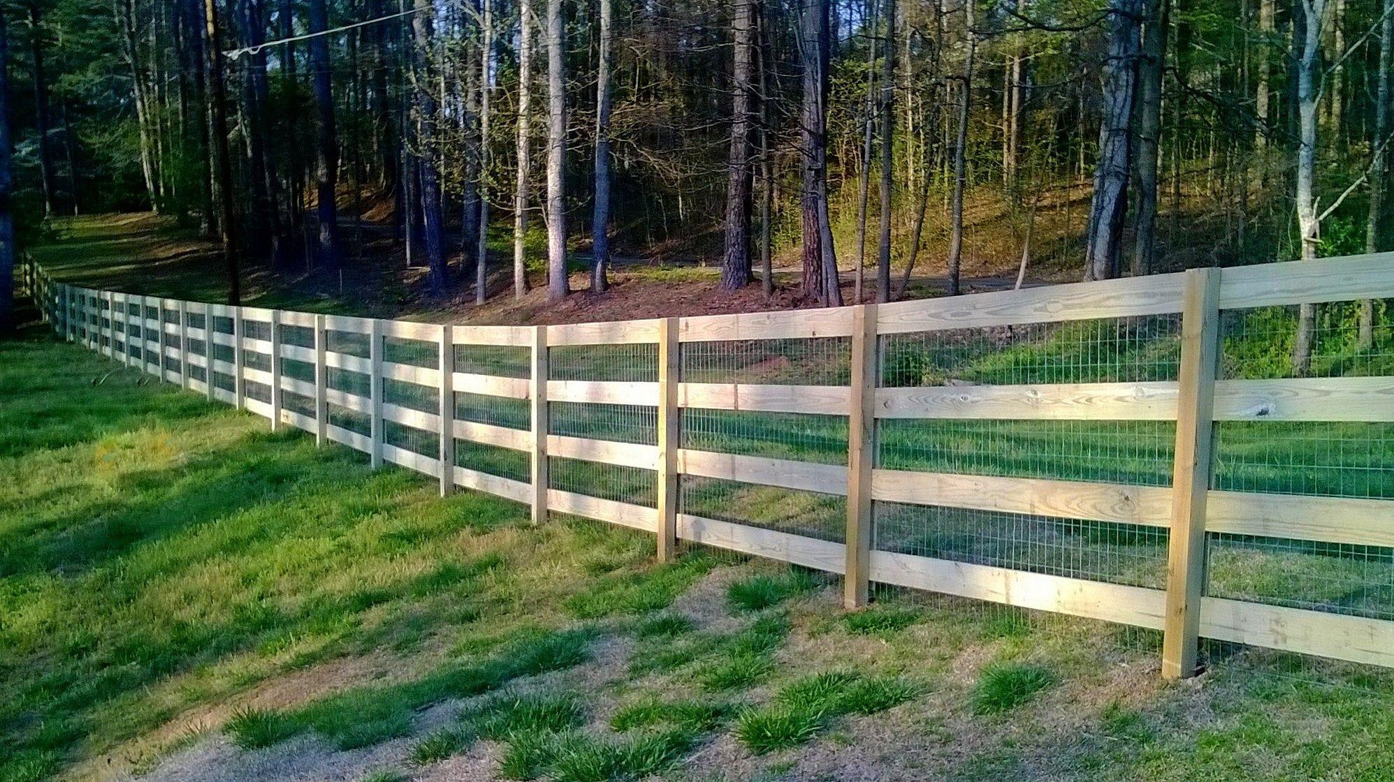 diy split rail fence with wire