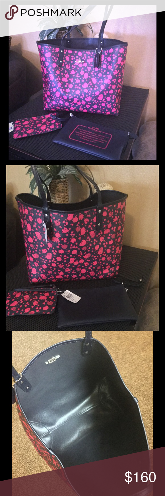 c2f7c7aac Authentic coach tote and wristlets REVERSIBLE CITY TOTE IN PRAIRIE CALICO  PRINT CANVAS COACH