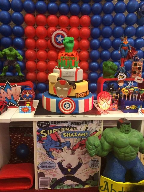 Super Hero Squad Marvel Characters Birthday Party Ideas Photo 34