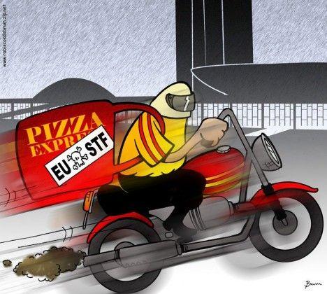 Pizzaria não gosta mais do STF