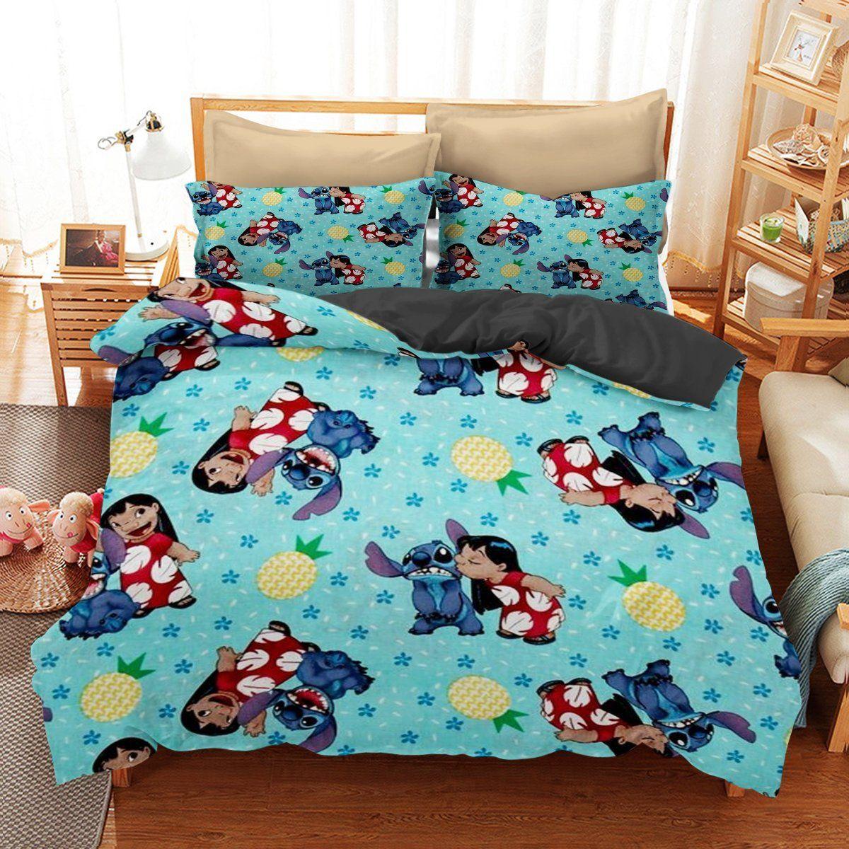 Bedding set stitch and lilo funny gift idea