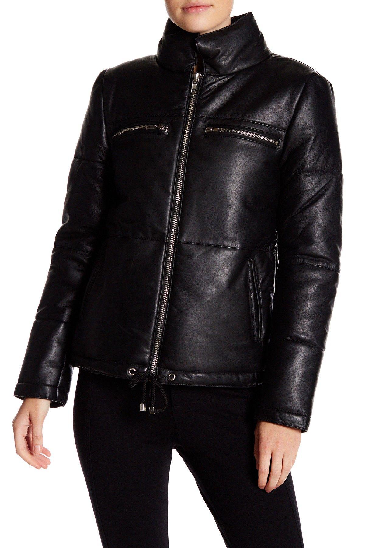 W118 by Walter Baker Genuine Leather ZipUp Jacket