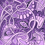 Little Purple Paisley Patch by edsel2084, Spoonflower digitally printed fabric, wallpaper, and gift wrap