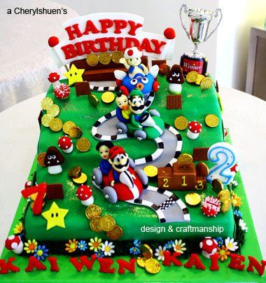 mario kart cake party ideas pinterest gateau anniversaire idee deco et anniversaires. Black Bedroom Furniture Sets. Home Design Ideas