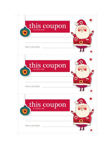 Santa Coupon  Free Coupon  Ticket Template By HloomCom