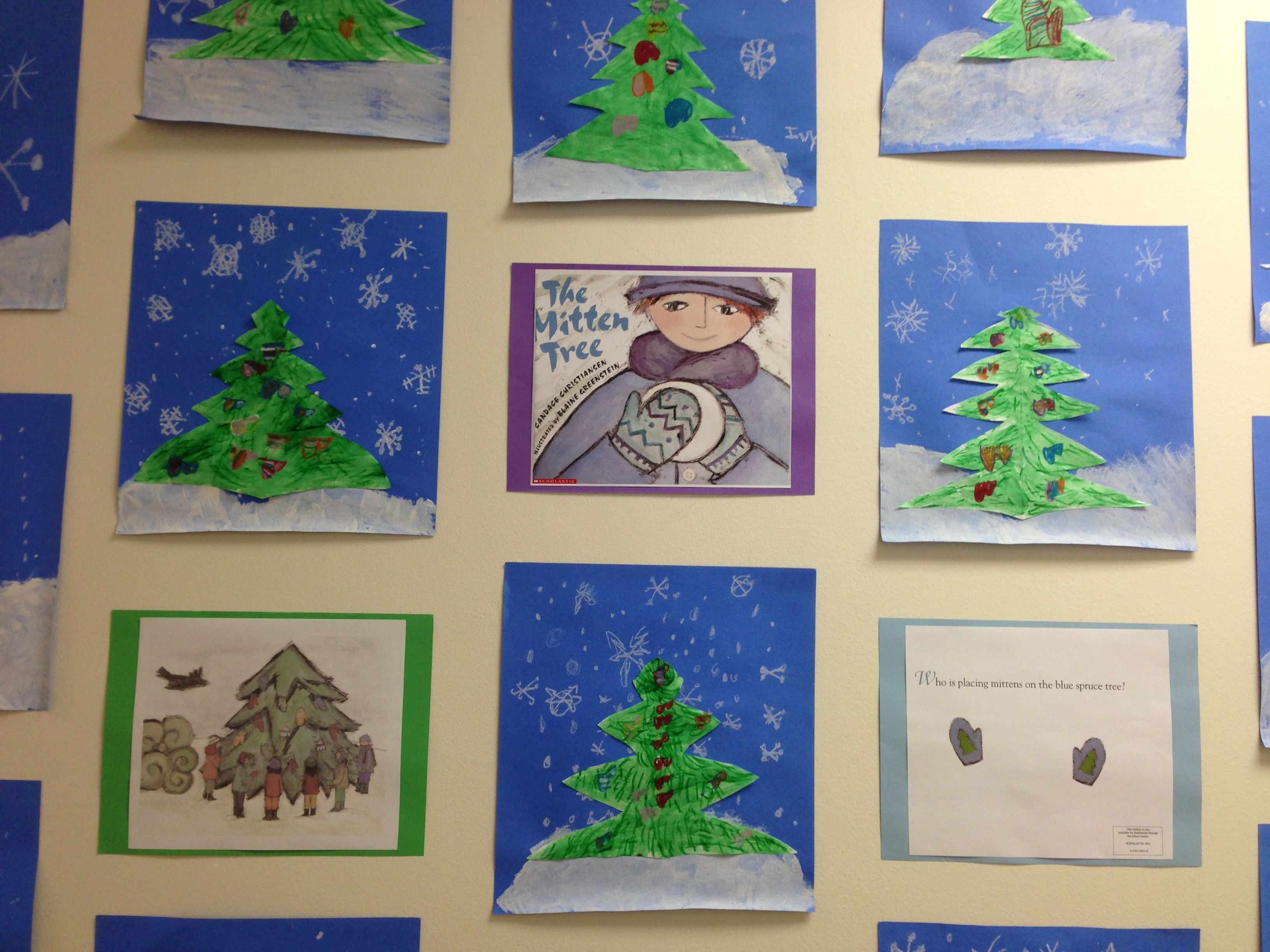 Cool Lesson On Color And Symmetry With The Mitten Tree